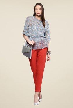 Yepme Ashling Blue Floral Print Kimono Top