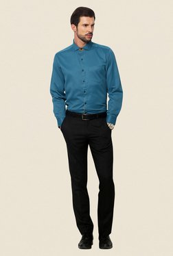 Yepme Blue Roswell Premium Slim Fit Shirt