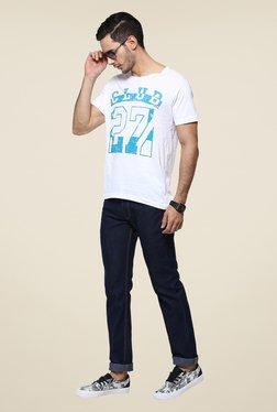 Yepme White Club Printed T Shirt