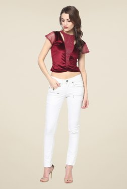 Yepme Carey Maroon Party Top