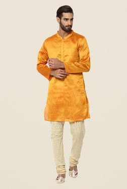 Yepme Orange Wright Solid Kurta