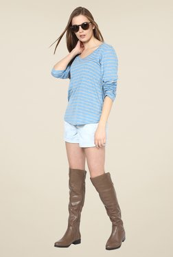 Yepme Rivera Blue Striped Top