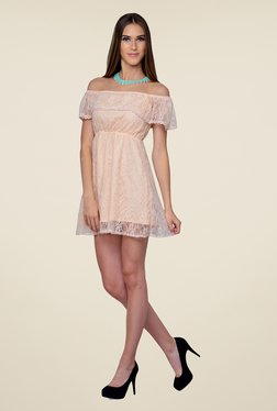 Yepme Peach June Lace Dress