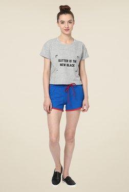 Yepme Benita Blue & Red Shorts