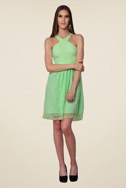 Yepme Green Kylie Lace Dress