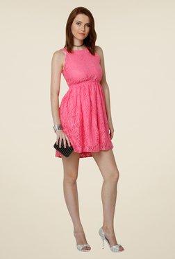 Yepme Pink Eliza Lace Dress