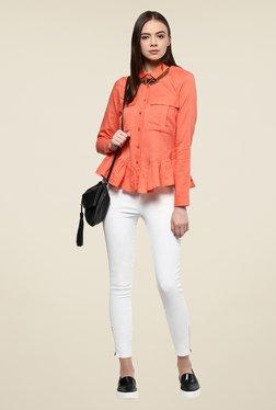 Yepme Coral Amelia Peplum Style Shirt