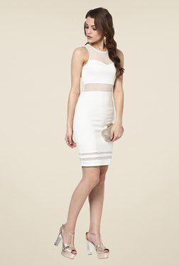 Yepme White Olivia Lace Party Dress