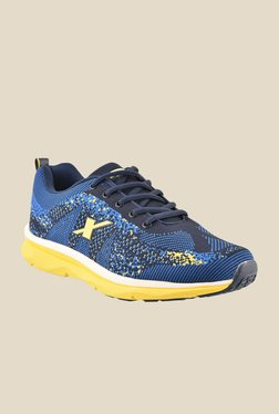 Sparx Blue & Yellow Running Shoes