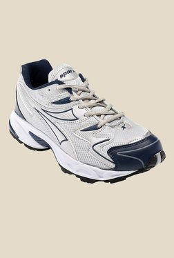 Sparx Silver & Navy Running Shoes