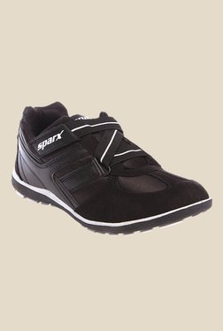 Sparx Black & White Running Shoes
