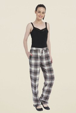 Only White Checks Trackpants