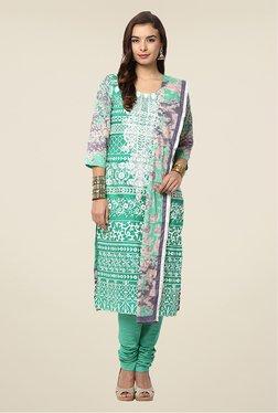 Yepme Green Nazia Semi Stitched Pakistani Suit Set