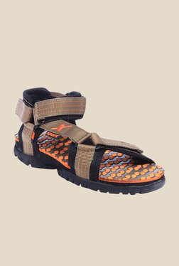 Sparx Camel & Orange Floater Sandals