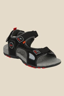 Sparx Black & Grey Floater Sandals