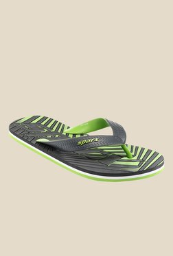 Sparx Grey & Green Flip Flops