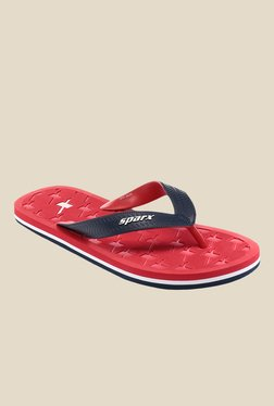 Sparx Navy & Red Flip Flops