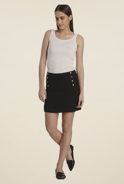 Vero Moda Black Solid Skirt - Mp000000000278752
