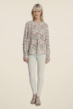 Vero Moda White Floral Print Top
