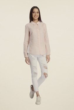 Vero Moda Light Pink Solid Shirt