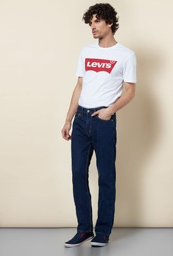 Levi's 513 Blue Slim Fit Stretch Jeans