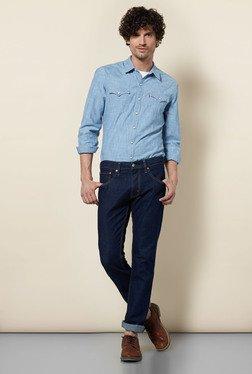 Levi's 65504 Dark Blue Skinny Jeans