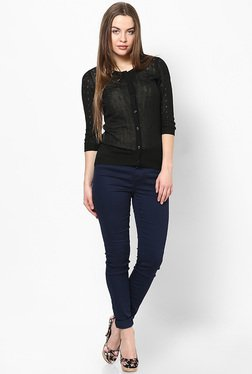 Only Black Solid Cardigan