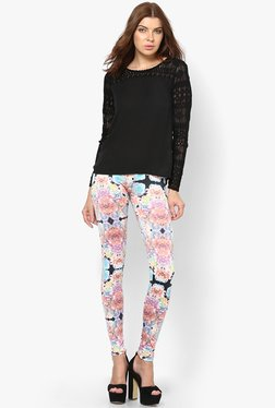 Only Multicolor Floral Print Jeggings