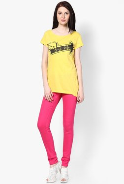 Only Pink Solid Jeggings