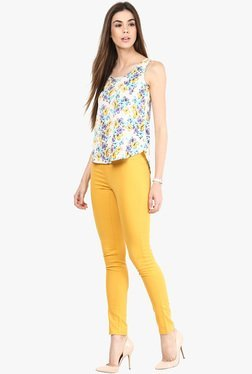 Only Yellow Solid Jeggings