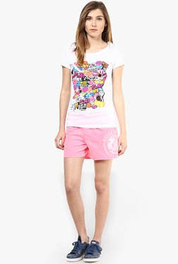 Only Pink Solid Shorts - Mp000000000279151