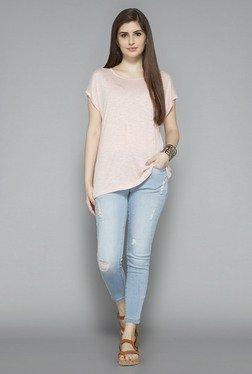 LOV By Westside Light Pink Embellished T Shirt