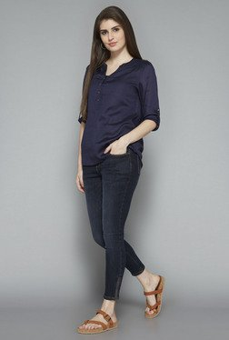 LOV by Westside Navy Seira Blouse