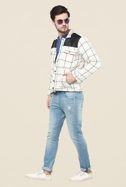 Yepme White Trent Full Sleeves Jacket