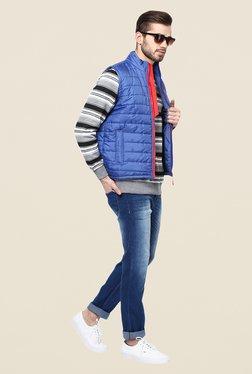 Yepme Julius Blue Sleeveless Jacket