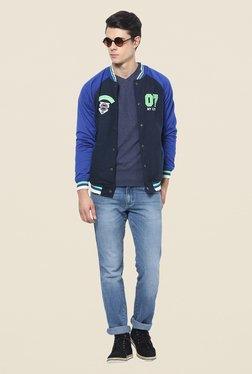 Yepme Toretto Navy & Blue Printed Jacket