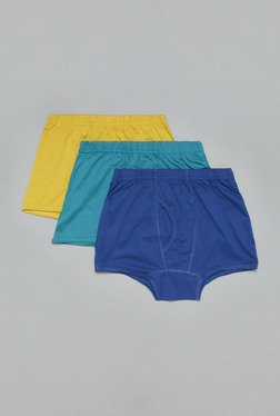 Westsport by Westside Yellow,Turquoise,Blue Trunks(Set Of 3)