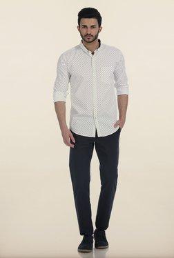 Basics Snow White Motif Print Slim Fit Shirt