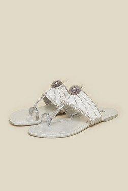 Inc.5 Silver Flat Sandals