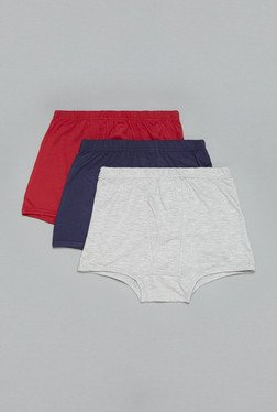 Westsport by Westside Red, Navy, Grey Trunks (Set Of 3)
