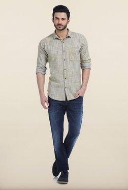 Basics Golden Rod Twill Slim Fit Shirt