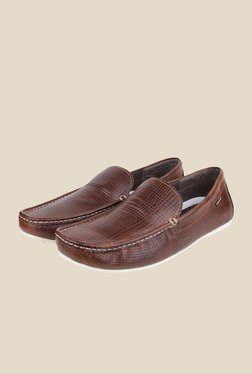 Red Tape Brown Leather Loafers - Mp000000000285858
