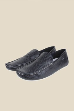Red Tape Navy Leather Loafers