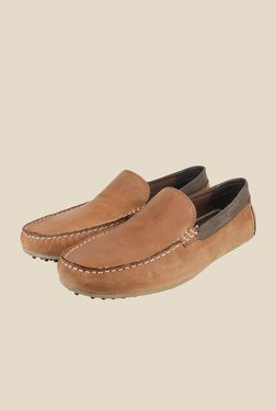 Red Tape Tan Leather Loafers