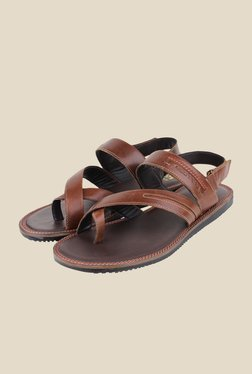 Red Tape Brown Back Strap Sandals