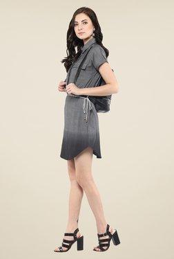 Yepme Grey Shirt Style Dress