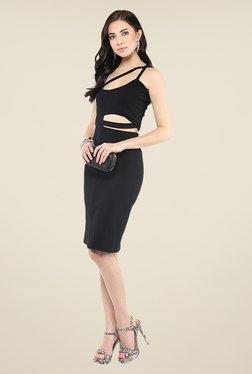 Yepme Black Cut Out Bodycon Dress