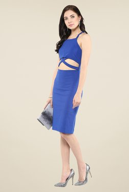 Yepme Blue Cut Out Bodycon Dress