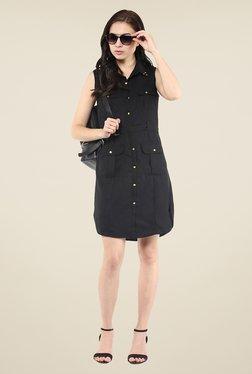 Yepme Black Shirt Style Dress