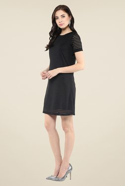 Yepme Black Striped Shift Dress